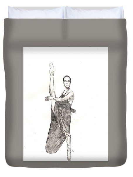 Misty Ballerina Dancer  Duvet Cover