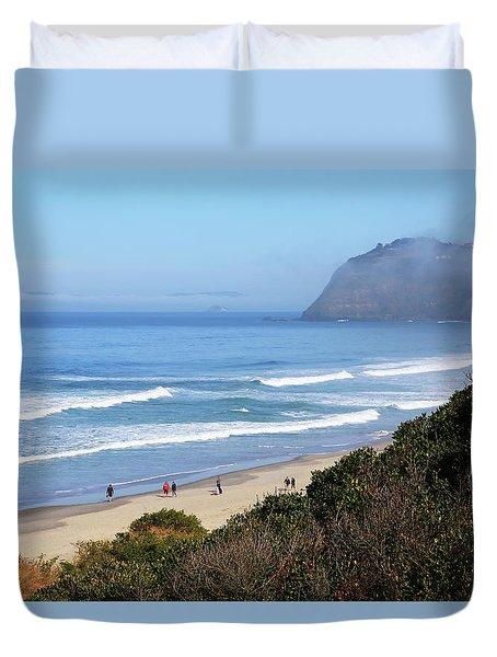 Misty Beach Morning Duvet Cover