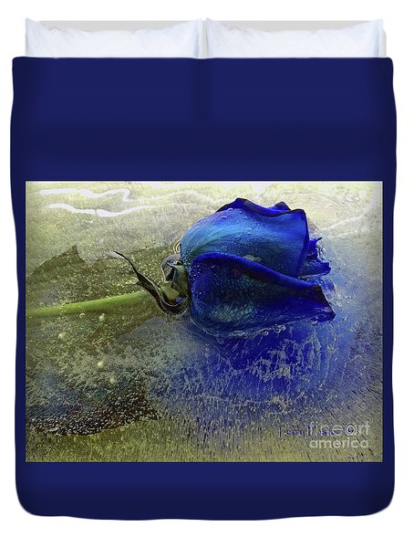 Misty Blue Duvet Cover by Terry Foster