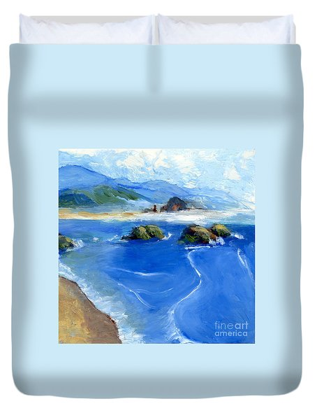 Misty Bodega Bay Duvet Cover