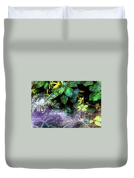 Misty Branches Duvet Cover by Deborah Nakano