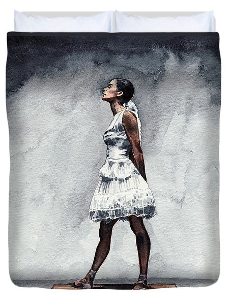 Misty Copeland Ballerina As The Little Dancer Duvet Cover