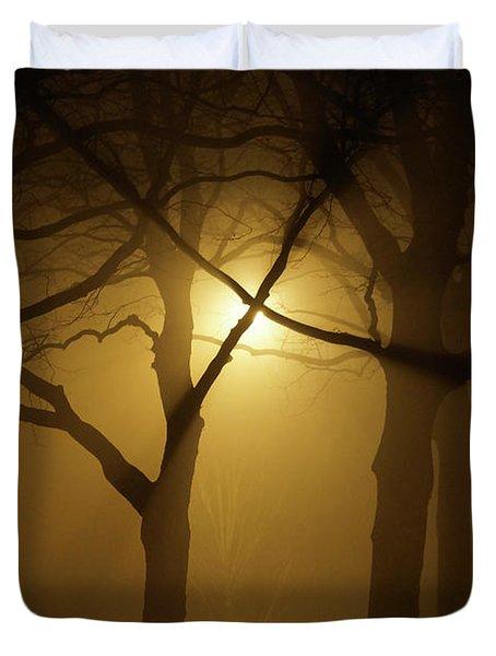 Misty Cross Duvet Cover by Erik Tanghe