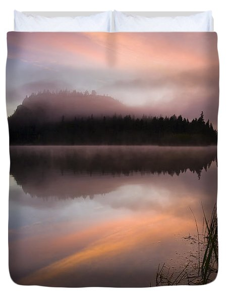 Misty Dawn Duvet Cover by Mike  Dawson