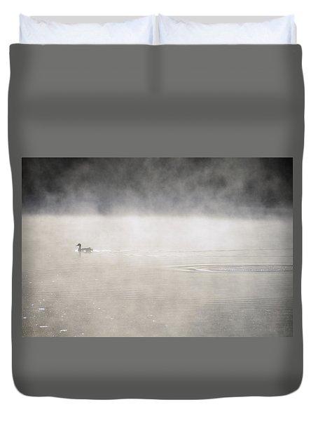 Misty Duck Duvet Cover