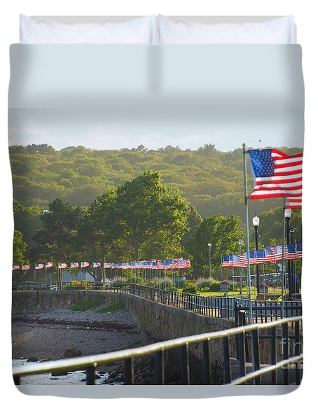Misty Flags Duvet Cover