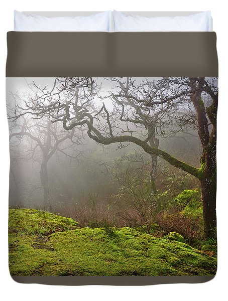 Misty Forest Duvet Cover by Keith Boone