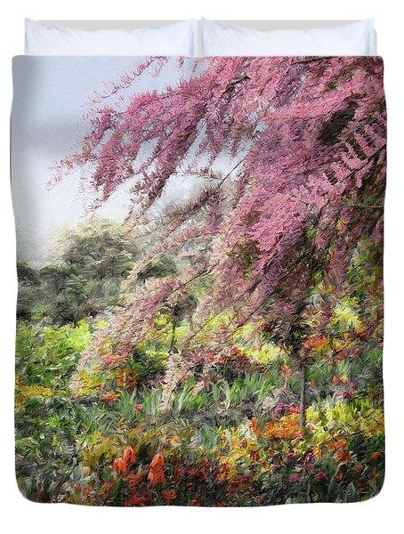Misty Gardens Duvet Cover