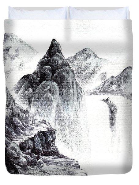 Misty Gorge Duvet Cover