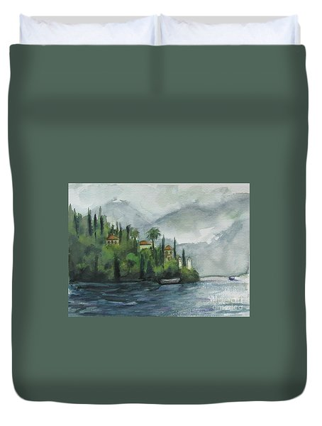Misty Island Duvet Cover