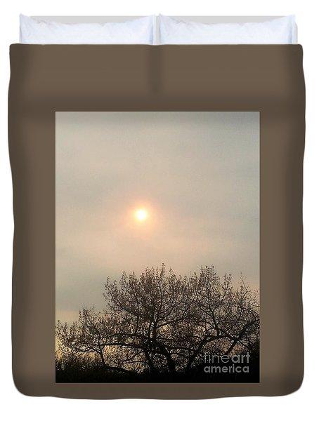 Lazy Hazy Sunset Duvet Cover