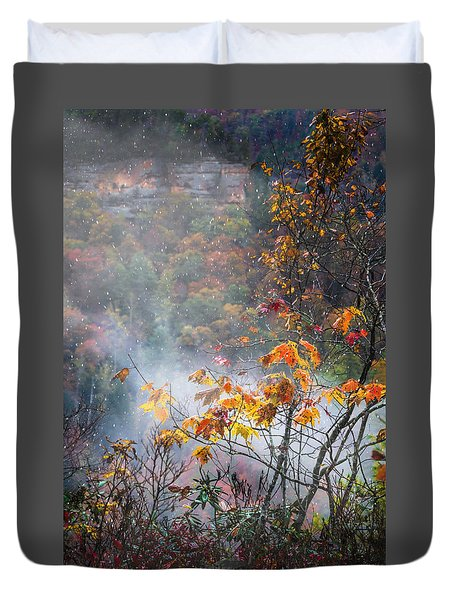 Misty Maple Duvet Cover by Diana Boyd
