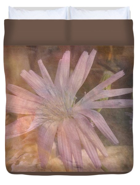 Duvet Cover featuring the photograph Misty Mauve by Lynn Bolt
