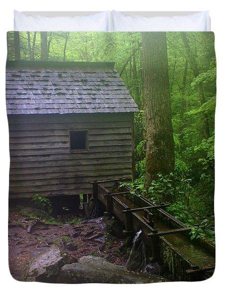 Misty Mill Duvet Cover by Marty Koch