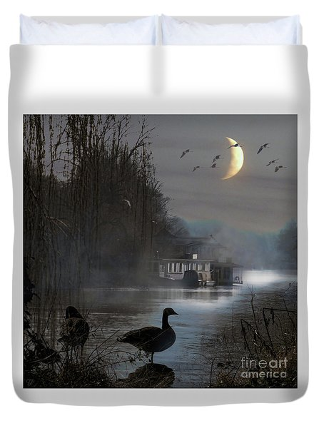 Misty Moonlight Duvet Cover