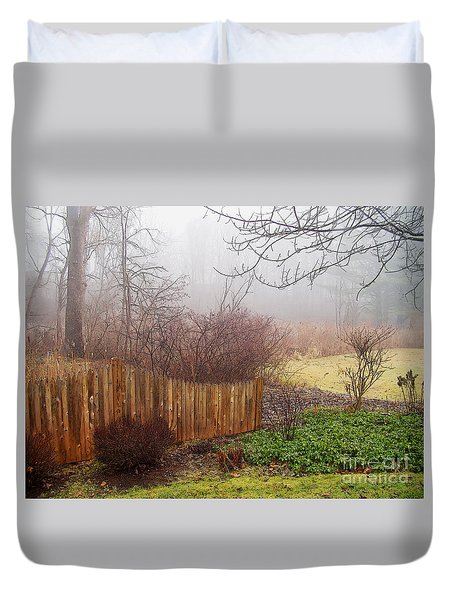 Duvet Cover featuring the photograph Misty Morn by Betsy Zimmerli