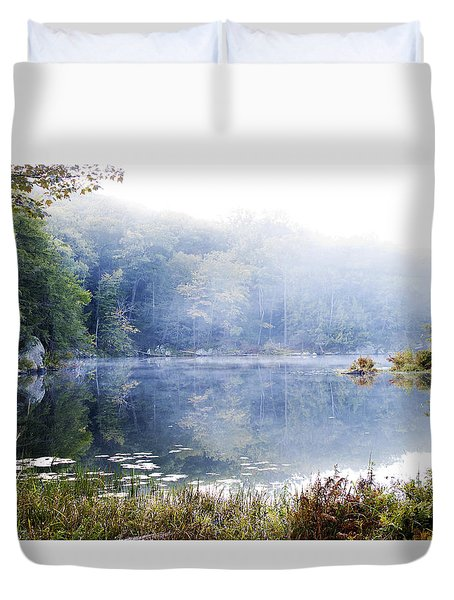 Misty Morning At John Burroughs #1 Duvet Cover