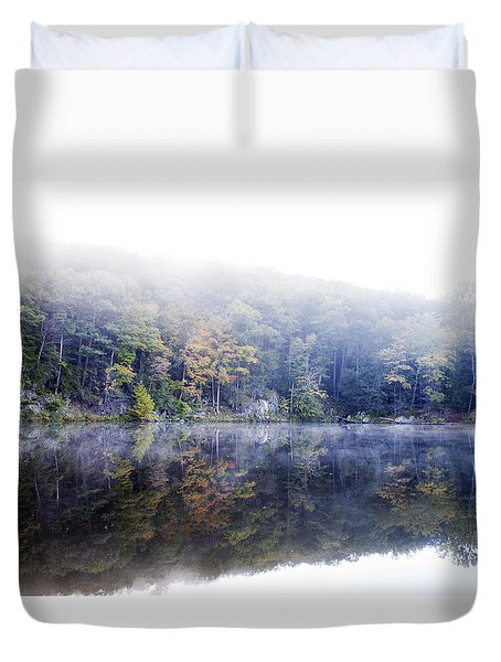 Misty Morning At John Burroughs #2 Duvet Cover by Jeff Severson