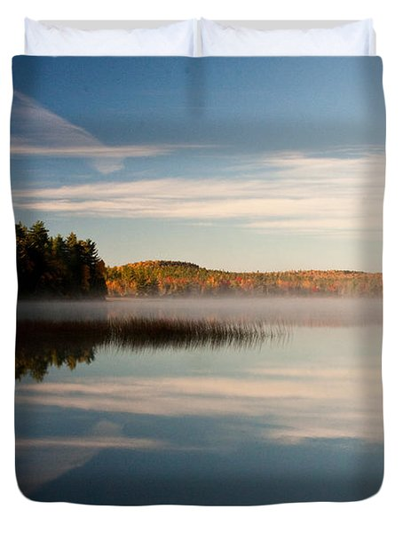 Duvet Cover featuring the photograph Misty Morning by Brent L Ander