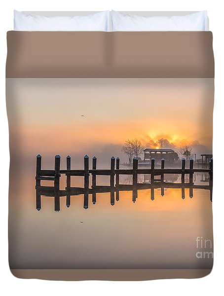 Misty Morning Duvet Cover by Brian Wright