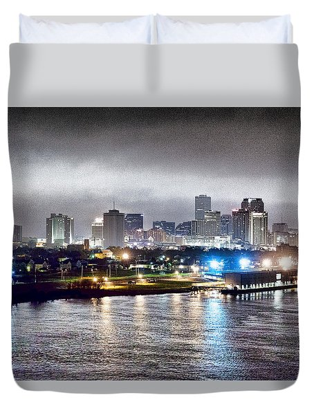 Misty Morning In New Orleans Duvet Cover by Dan Dooley