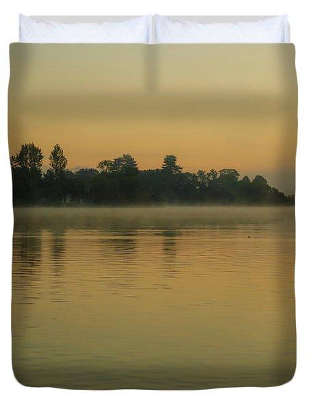Misty Morning Lake Duvet Cover