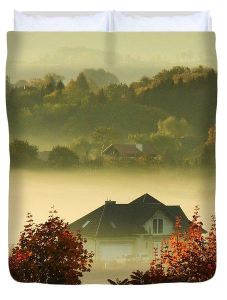 Misty Morning Duvet Cover by Mariola Bitner