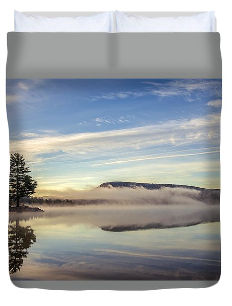 Misty Morning Duvet Cover by Mark Papke