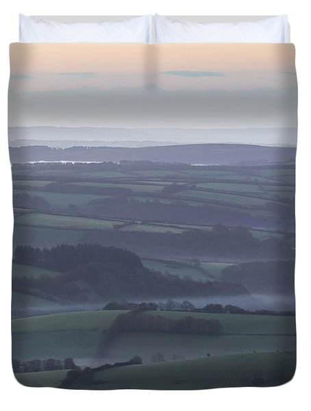 Misty Morning On Exmoor  Duvet Cover