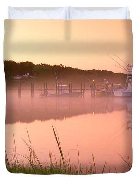 Misty Morning Osterville Cape Cod Duvet Cover by Matt Suess