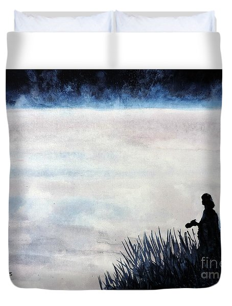 Misty Morning Photographer Duvet Cover