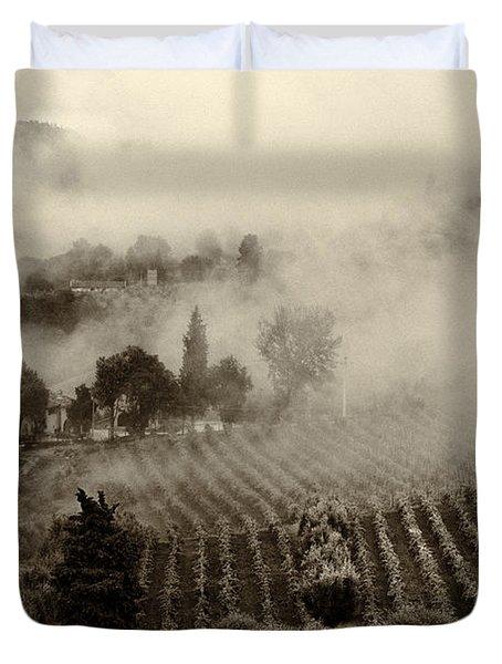 Misty Morning Duvet Cover by Silvia Ganora