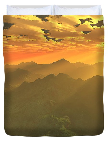 Misty Mornings In Neverland Duvet Cover by Gaspar Avila