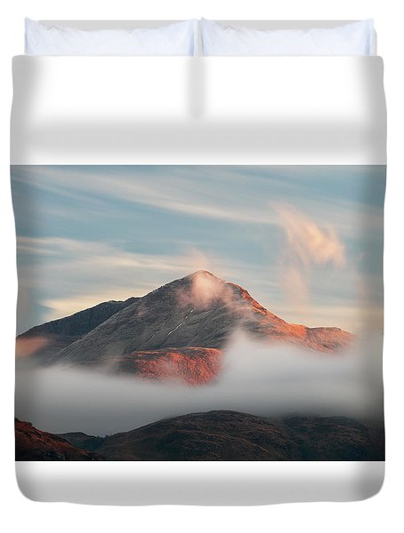 Duvet Cover featuring the photograph Misty Mountain by Grant Glendinning