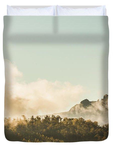 Misty Mountain Peaks Duvet Cover