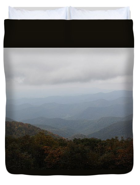 Misty Mountains More Duvet Cover