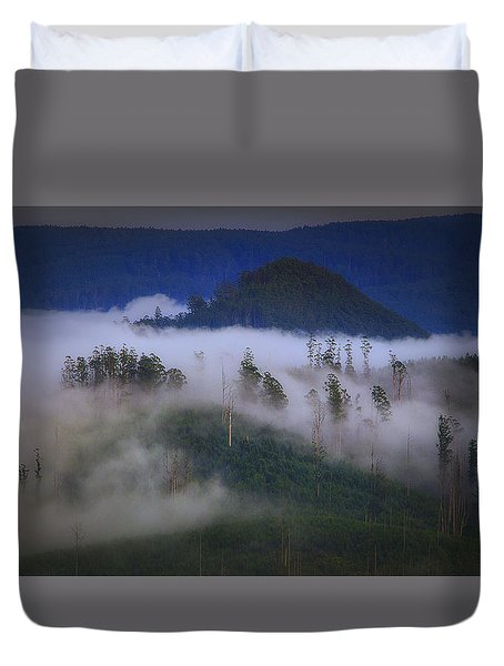 Misty Mountains Duvet Cover by Tim Nichols