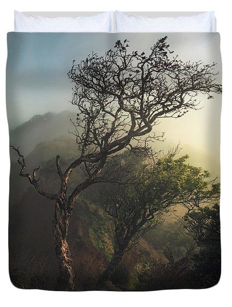Misty Na Pali Duvet Cover