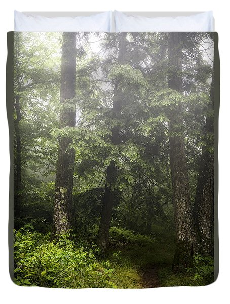 Misty Path Duvet Cover