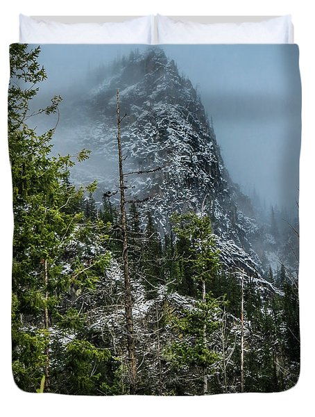 Misty Pinnacle Duvet Cover