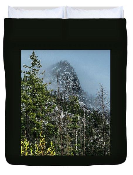 Misty Pinnacle Duvet Cover