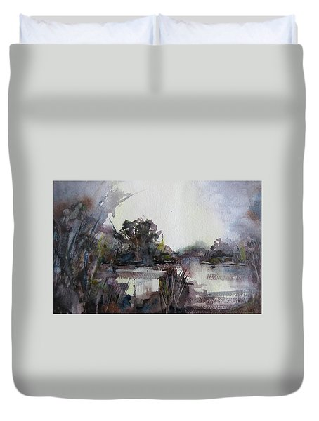 Misty Pond Duvet Cover