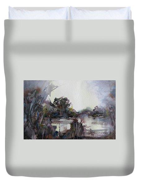 Misty Pond Duvet Cover by Geni Gorani