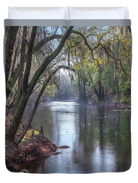 Misty River Duvet Cover by Tim Fitzharris