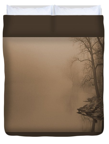 Misty River - Vintage  Duvet Cover