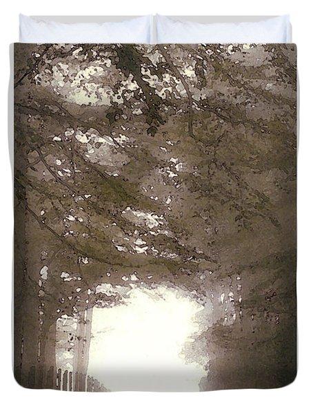 Misty Road Duvet Cover