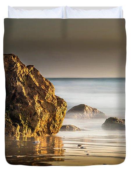Misty Rock Duvet Cover