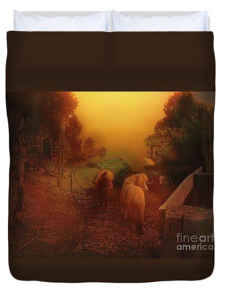 Misty Sundown Duvet Cover