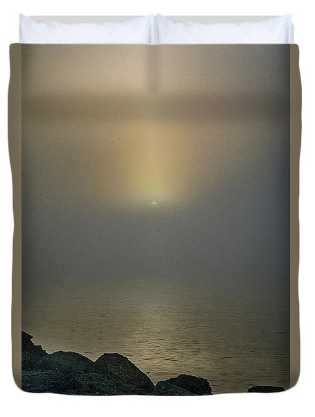 Misty Sunrise Morning Duvet Cover