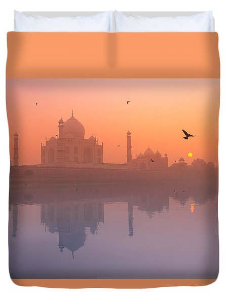 Misty Sunset Duvet Cover